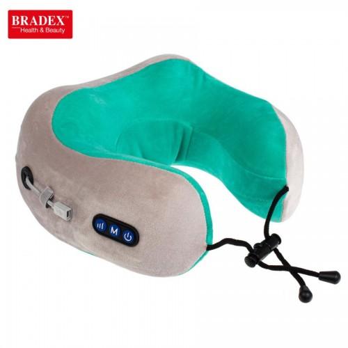 Дорожная подушка-подголовник для шеи с завязками Bradex KZ 0558, KZ 0559
