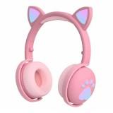 Беспроводные наушники с ушками и подсветкой Cat Ear BK1 (Bluetooth, MP3, AUX, Mic)