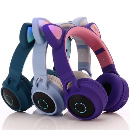Беспроводные наушники Wireless Cat Ear Headphones BT028C (Bluetooth, FM, MP3, AUX, Mic)