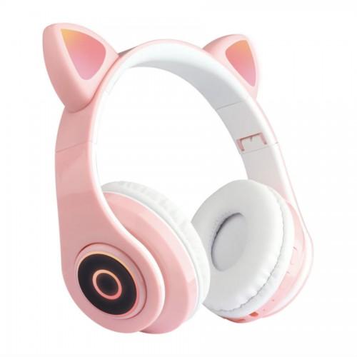 Беспроводные наушники Wireless Cat Ear Headphones CT-86 (Bluetooth, MP3, AUX, Mic)