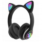 Беспроводные наушники с ушками и подсветкой Cat Ear P33M (Bluetooth, MP3, AUX, Mic)