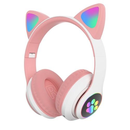 Беспроводные наушники Wireless Cat Ear Headphones STN-28 (Bluetooth, MP3, AUX, Mic)
