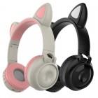 Беспроводные наушники с ушками и подсветкой Cat Ear ZW-028 (Bluetooth, AUX, MP3, FM, Mic, LED)