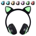 Беспроводные наушники с ушками и подсветкой Cat Ear ZW-19 (Bluetooth, AUX, Mic, LED)