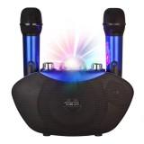 Беспроводная семейная караоке система Family KTV Y-8 (USB/Bluetooth/TF, 2 микрофона, светомузыка)