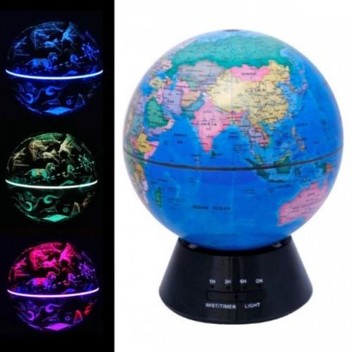 Настольный ультразвуковой арома-увлажнитель Globe Humidifier с LED подсветкой