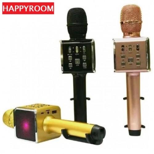 Портативный караоке микрофон со встроенным держателем Happyroom H59 (Bluetooth, MP3, AUX, KTV)