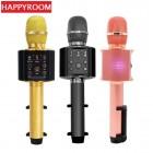 Беспроводной караоке микрофон + держатель Happyroom H60 (Bluetooth, MP3, AUX, KTV)