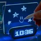 Электронные часы настольные с световой доской для записей HighStar