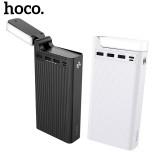 Внешний аккумулятор 30000 mAh Hoco J62 с LED лампой (3 USB, Micro USB, Type C: 5V-2A)