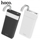Внешний аккумулятор 30000 mAh Hoco J73 Powerful с лампой (2 USB, Micro USB, Type-C, Lightning 5V-2A)