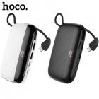 Внешний аккумулятор 10000 mAh Hoco S29 Nimble с держателем телефона (2 USB, Micro USB, Type C)