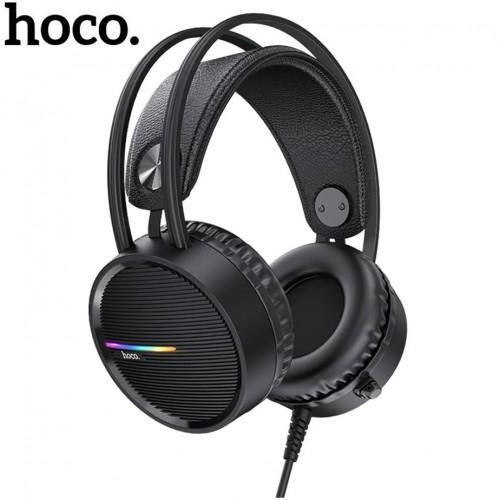 Проводная компьютерная стерео гарнитура с микрофоном Hoco W100 Touring