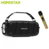 Портативная беспроводная колонка Hopestar A20 Pro с микрофоном (Bluetooth, TWS, MP3, AUX, Mic, KTV)