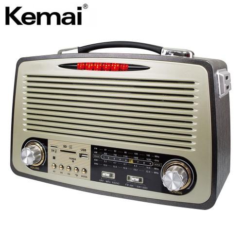 Радиоприемник Ретро Kemai MD-1700BT (Bluetooth, USB, SD, FM, AUX, аккумулятор)