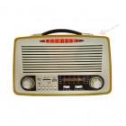 Портативная Ретро акустика Kemai MD-1700U (USB, SD, FM, AUX)