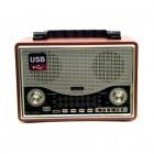Портативная Ретро колонка - радиоприемник Kemai MD-1706BT (Bluetooth, USB, SD, FM, AUX)