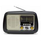 Портативная Ретро колонка - радиоприемник Kemai MD-1900BT (Bluetooth, USB, SD, FM, AUX)