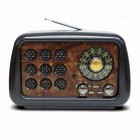 Портативная Ретро колонка - радиоприемник Kemai MD-1901BT (Bluetooth, USB, SD, FM, AUX)
