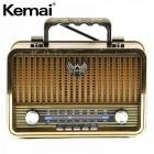 Портативная Ретро колонка - радиоприемник Kemai MD-1909 BT (Bluetooth, USB, SD, FM, AUX)