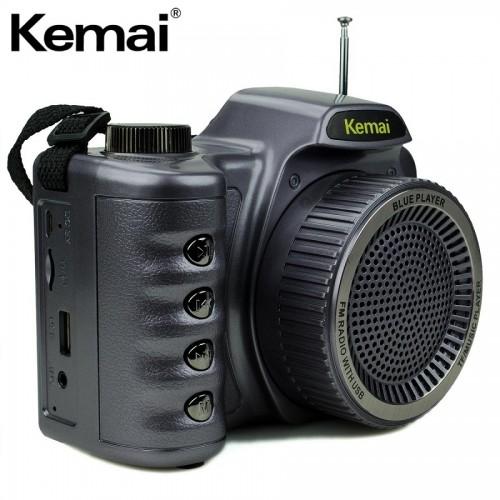 Оригинальная колонка - радиоприемник в виде фотоаппарата Kemai MD-V5BT (Bluetooth, USB, SD, FM, AUX)