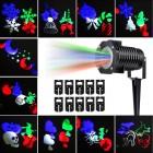 Светодиодный проектор LED 10 Pattern Projector цветной, 10 слайдов, влагозащищенный