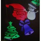 Светодиодный проектор новогодних картинок LED Christmas Projector цветной, влагозащищенный