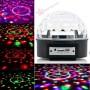 Светодиодный дискошар LED Magic Ball Light MP3 6 цветов