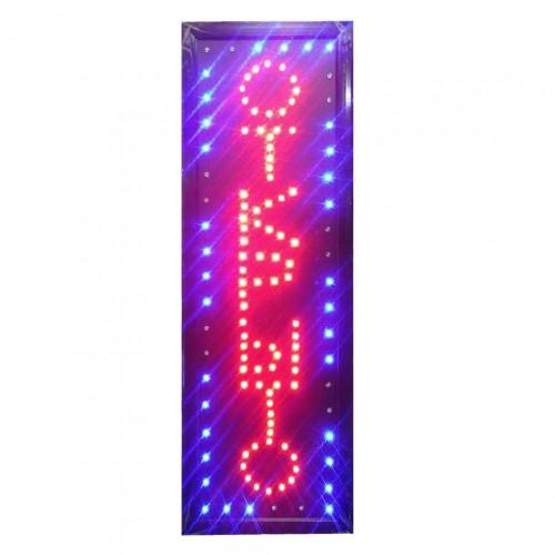 """Универсальная LED вывеска для бизнеса """"ОТКРЫТО"""" 60х20 см"""