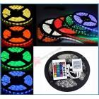 Полноцветная светодиодная лента LED Strip SMD 5050 - 5м (комплект, пульт 24 кнопки)