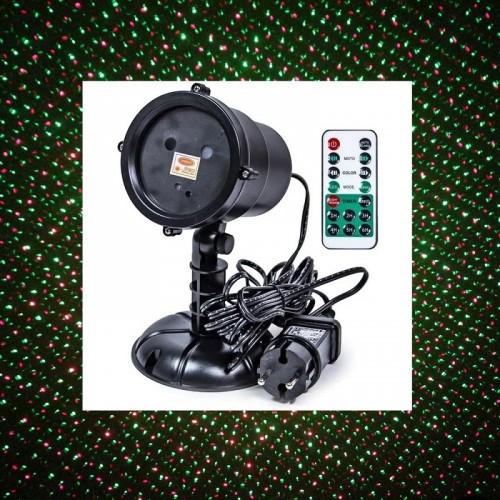 Лазерный проектор для дома и улицы Outdoor Laser Light Stars (2 цвета, датчик света, пульт, таймер, режимы)
