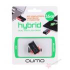 Универсальная OTG Флешка Qumo Hybrid 16Gb