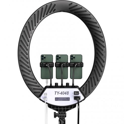 Кольцевая лампа овальная LED Soft Ring Light TY-4048 (48 см), со штативом