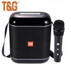 Беспроводная караоке система Portable Wireless Speaker TG523K (USB, TF, Bluetooth, TWS, AUX, FM, 1 микрофон)