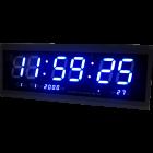 Большие настенные LED часы-табло TL-4819, синий (часы, минуты, секунды, календарь, термометр)