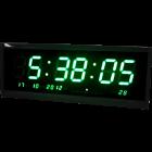 Большие настенные LED часы-табло TL-4819, зеленый (часы, минуты, секунды, календарь, термометр)