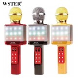 Беспроводной Караоке Микрофон Wster WS-1828 (Bluetooth, MP3, FM, AUX, KTV, 4 Voice )