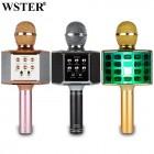 Беспроводной Караоке Микрофон Wster WS-868 (Bluetooth, MP3, AUX, KTV, REC, 4-Voice, LED)
