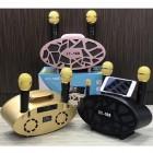 Беспроводная стерео караоке система Karaoke Speaker XY-169 (USB/Bluetooth/TF, 2 микрофона)