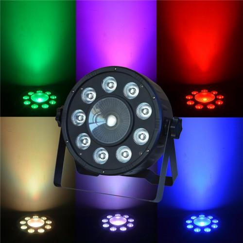 Фоно-заливочный RGB прожектор Eyourlife 9X3W+1X15W LED Digit Par Light