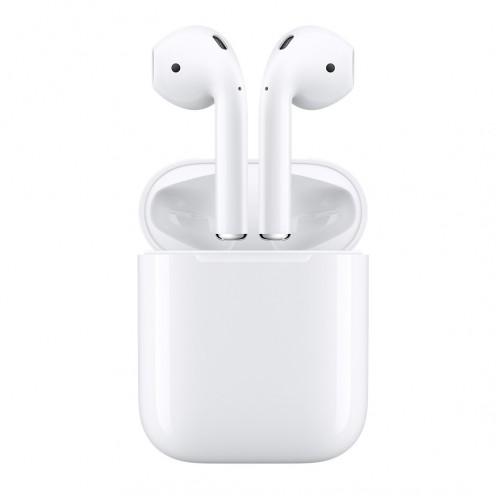 Оригинальные беспроводные наушники вкладыши Apple AirPods в зарядном футляре