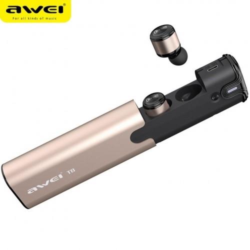 Наушники беспроводные гарнитурные Awei T8 с зарядным футляром