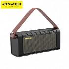 Беспроводная стерео колонка Awei Y668 (Bluetooth, MP3, AUX, FM, Mic, Power Bank)