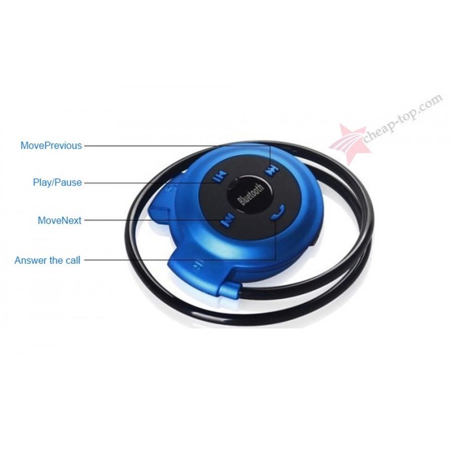 Гарнитурные Bluetooth стерео наушники STN-16 с радио и MP3