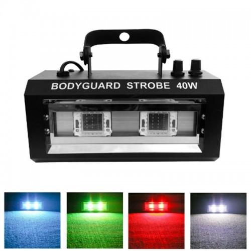 Стробоскоп Bodyguard Strobe Series 40W мультиколор, звуковая активация 20W x 2