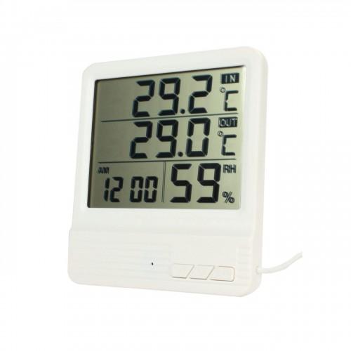 Универсальный термометр CX-301A внешняя температура и в помещении, влажность, время