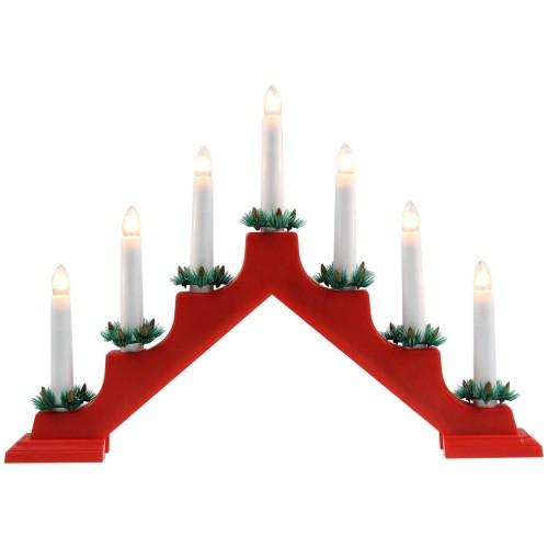 Традиционный скандинавский светильник Рождественская горка 7 Candle Arch Plastic