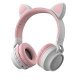 Беспроводные наушники с ушками и подсветкой Cat Ear BT-028C (Bluetooth, MP3, AUX, Mic)