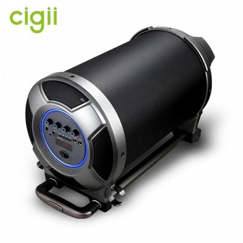 Стерео бумбокс 2.1 на колесиках Cigii S36 (Bluetooth, USB, micro SD, FM, AUX, Mic)