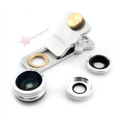 Мини объективы для смартфона Professional Clamp Lens 3 in 1